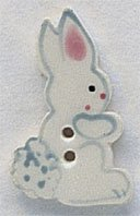 86194 - White Tall Rabbit-Facing Right 3/4in x 1 1/16in - 1 per
